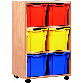 6 Tray Jumbo Mobile Storage £0 - Education Furniture