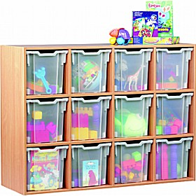 12 Tray Jumbo Static Storage £299 - Education Furniture