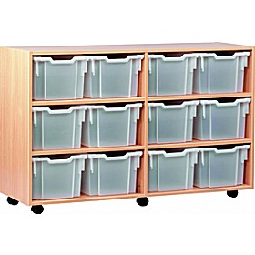 12 Tray Extra Deep Mobile Storage £0 - Education Furniture