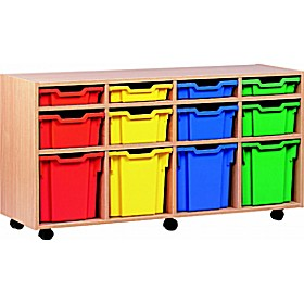 12 Tray Variety Mobile Storage £0 - Education Furniture
