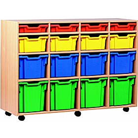 16 Tray Variety Mobile Storage £320 - Education Furniture