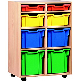 8 Tray Variety Mobile Storage £0 - Education Furniture