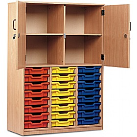 Large Volume Tray Storage Combination Cupboard £334 - Education Furniture