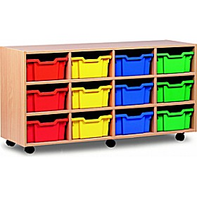 12 Tray Deep Mobile Storage £246 - Education Furniture