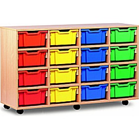 16 Tray Deep Mobile Storage £0 - Education Furniture