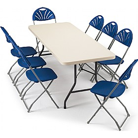 Blow Moulded Rectangular Folding Tables £0 - Folding Tables