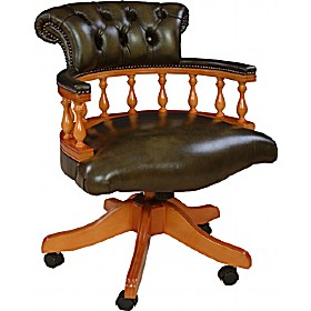 Antique Replica Captains Chair £545 - Home Office Furniture