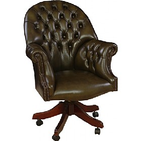Antique Replica Directors Chair £779 - Home Office Furniture