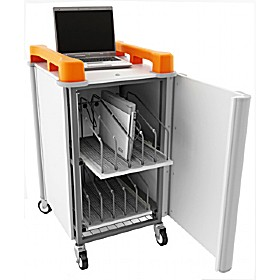 LapCabby 10V - 10 Vertical Laptop Store and Charging Trolley £720 - Office Cupboards