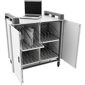 LapCabby 20V - 20 Vertical Laptop Store and Charging Trolley £0 -