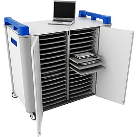 LapCabby 32H - 32 Horizontal Laptop Store and Charging Trolley £1801 - Office Cupboards