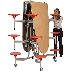 Oval Communicator 12 Seater Folding Dining Units £0 - Education Furniture