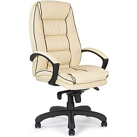 Cream Rome Leather Faced Manager Chair £216 - Office Chairs