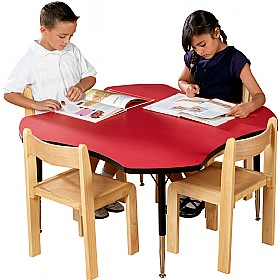 Adjustable Height Clover Top Table £123 - Education Furniture