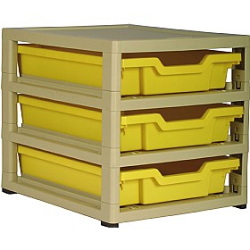 GratStack Single Column Unit With 3 Shallow Trays £0 - Education Furniture
