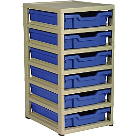 GratStack Single Column Unit With 6 Shallow Trays £0 -
