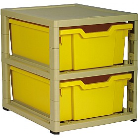 GratStack Single Column Unit With 2 Deep Trays £43 - Education Furniture