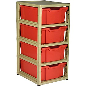 GratStack Single Column Unit With 4 Deep Trays £0 - Education Furniture