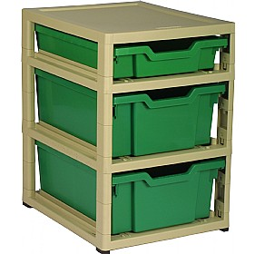 GratStack Single Column Unit With 1 Shallow and 2 Deep Trays £0 - Education Furniture