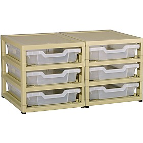 GratStack 2 Column Unit With 6 Shallow Trays £0 - Education Furniture