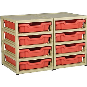 GratStack 2 Column Unit With 8 Shallow Trays £0 - Education Furniture