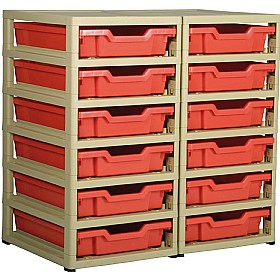 GratStack 2 Column Unit With 12 Shallow Trays £0 - Education Furniture