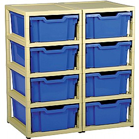 GratStack 2 Column Unit With 8 Deep Trays £0 - Education Furniture