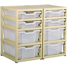 GratStack 2 Column Unit With 4 Shallow and 4 Deep Trays £0 - Education Furniture