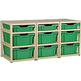 GratStack 3 Column Unit With 3 Shallow and 6 Deep Trays £0 - Education Furniture