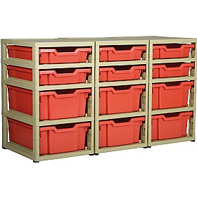 GratStack 3 Column Unit With 6 Shallow and 6 Deep Trays £0 - Education Furniture