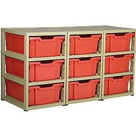 GratStack 3 Column Unit With 9 Deep Trays £125 - Education Furniture