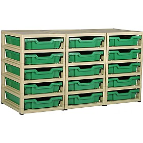 GratStack 3 Column Unit With 15 Shallow Trays £0 - Education Furniture