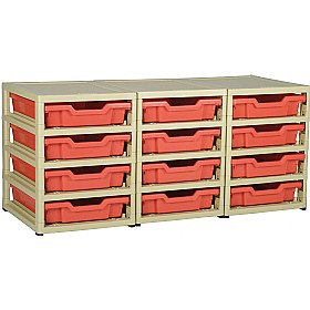 GratStack 3 Column Unit With 12 Shallow Trays £126 - Education Furniture