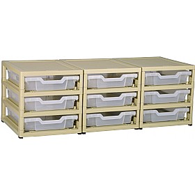 GratStack 3 Column Unit With 9 Shallow Trays £0 - Education Furniture