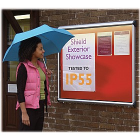 Illuminated Aluminium Framed Exterior Shield Showcases £285 - Display/Presentation