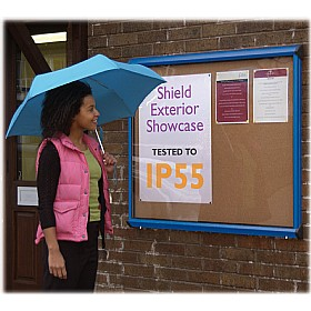 Coloured Frame Cork Exterior Shield Showcases £179 - Display/Presentation