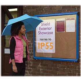 Illuminated Coloured Frame Cork Exterior Shield Showcases £307 - Display/Presentation