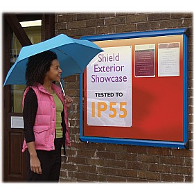 Illuminated Coloured Frame Exterior Shield Showcases £307 - Display/Presentation