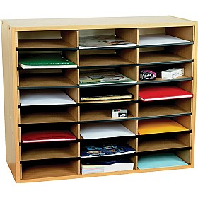 24 Section Literature Sorter Unit £78 - Education Furniture