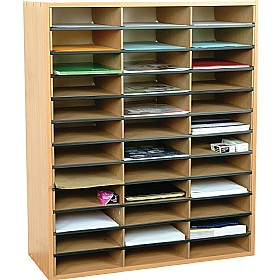 36 Section Literature Sorter Unit £0 - Education Furniture
