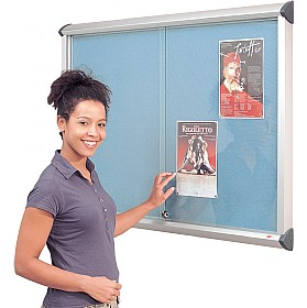 Aluminium Framed Sliding Door Shield Showcase £263 - Display/Presentation