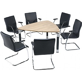 Trilogy Triangular Solo Boardroom Tables £669 - Meeting Room Furniture