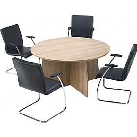 Trilogy Round Panel End Boardroom Tables £391 - Meeting Room Furniture