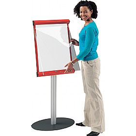 Coloured Frame Freestanding Shield Whiteboard Showline £230 - Display/Presentation