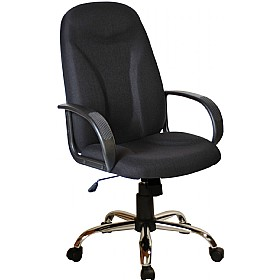 Perth Chrome Ergo Fabric Manager Chairs £83 - Office Chairs