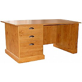 Antique Pine Effect Compact Desk £217 - Home Office Furniture
