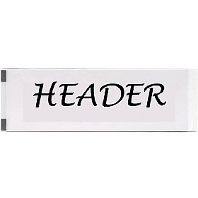 Magnetic Heading Strip Holder £0 -