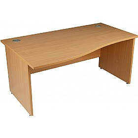 Modus Commercial  Panel End Wave Desk £187 - Office Desks
