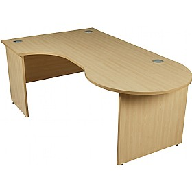 Modus Commercial Panel End Managerial Ergonomic Desk £334 - Office Desks
