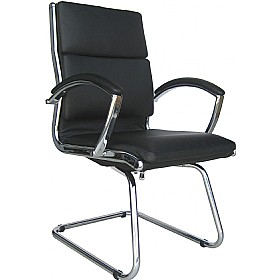 Formosa Enviro Leather Cantilever Chair Black £211 - Office Chairs